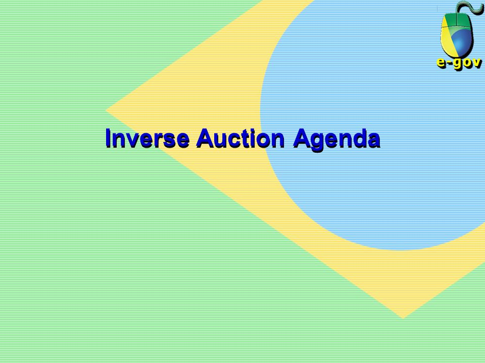 Inverse Auction Agenda