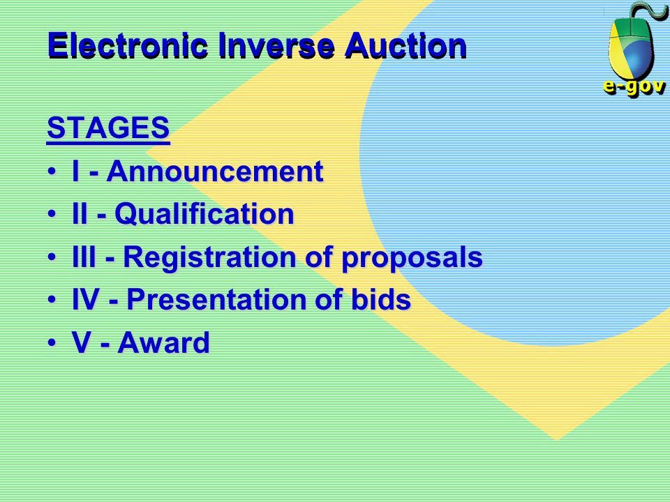 Electronic Inverse Auction