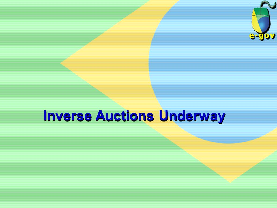 Inverse Auctions Underway