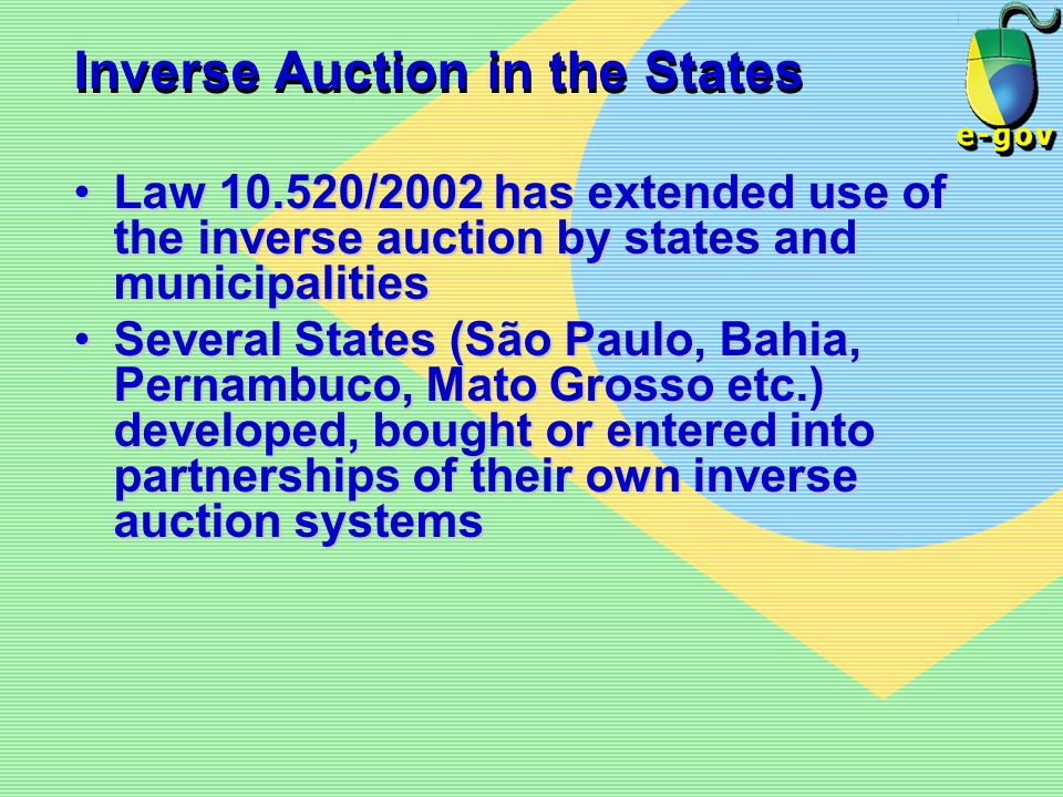 Inverse Auction in the States