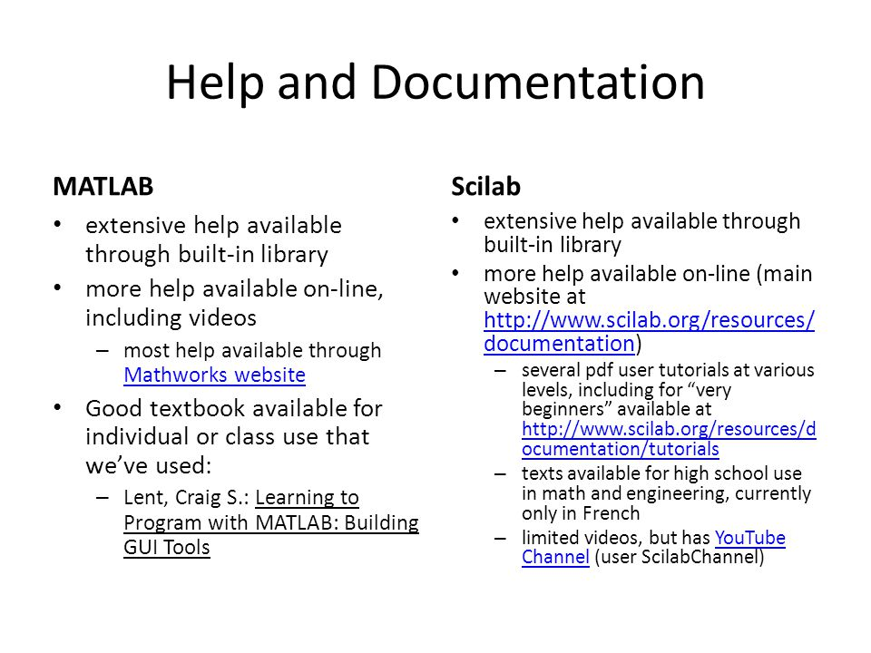 MATLAB and Scilab Comparison - ppt video online download