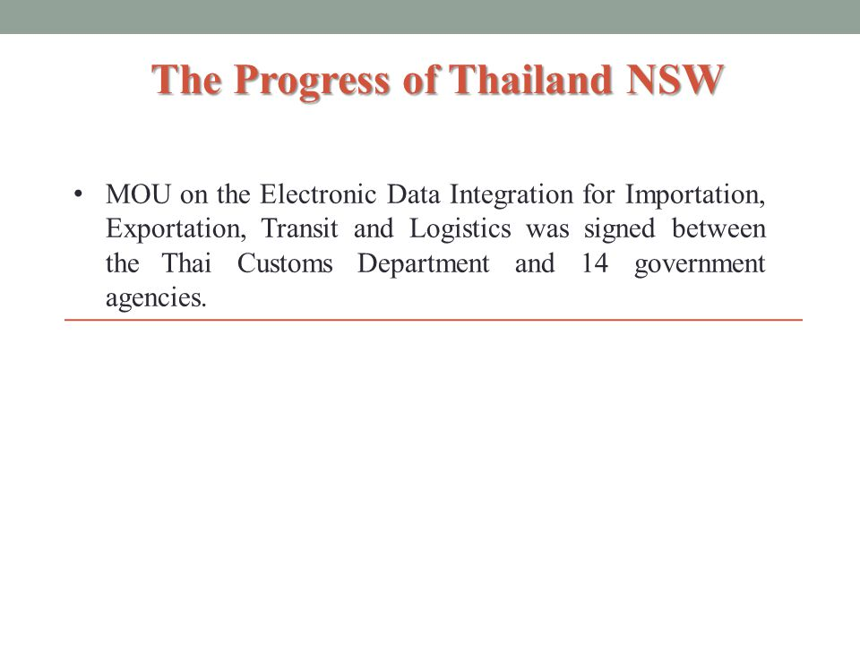 The Progress of Thailand NSW