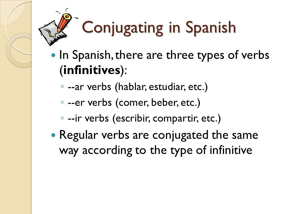 Conjugating in Spanish