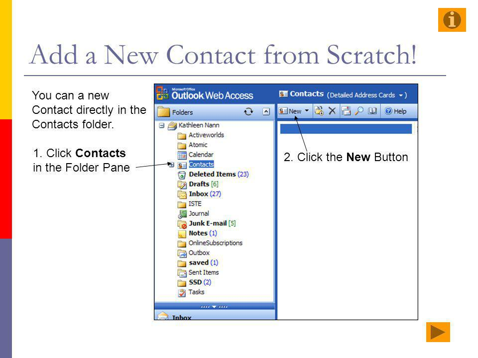 Add a New Contact from Scratch!