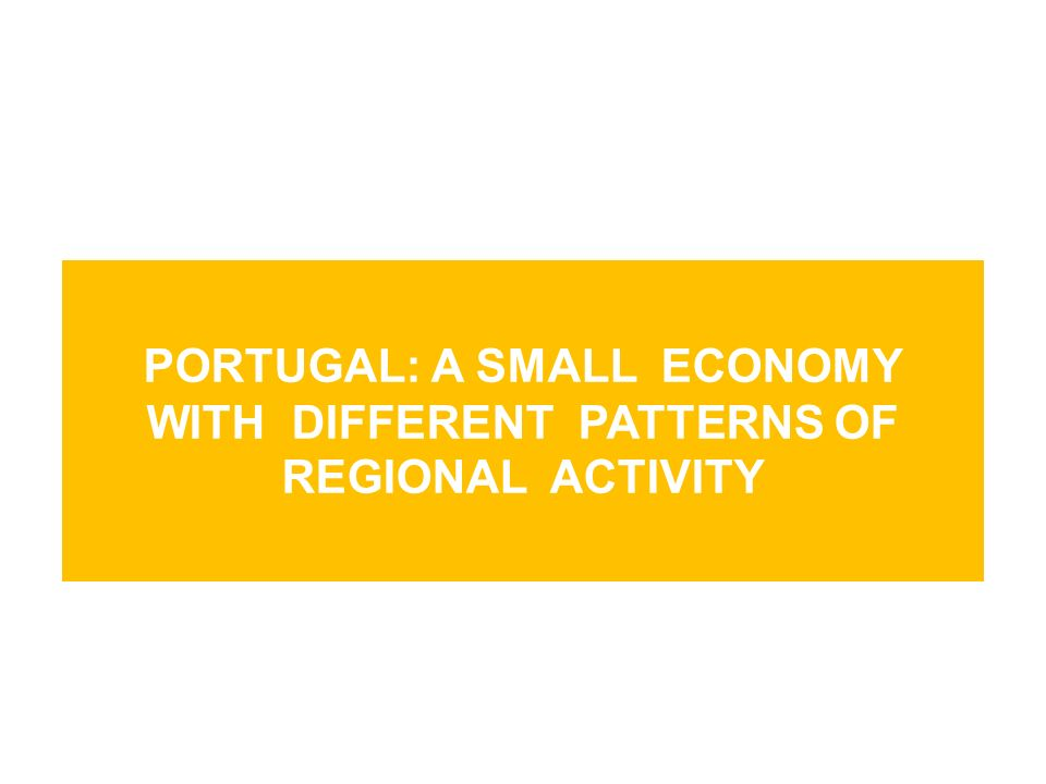 Portugal: a small economy with different patterns of regional activity