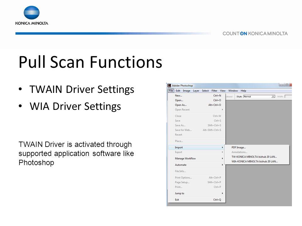 konica minolta scanner twain driver