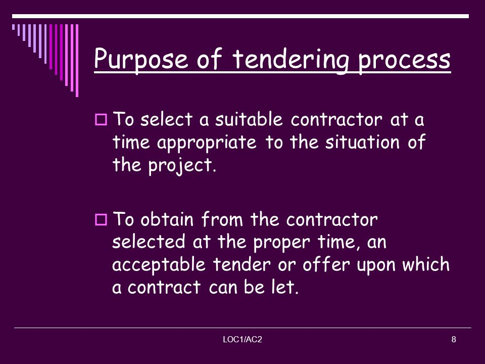 Lecture 2 Tender Process And Documentation Ppt Video Online Download