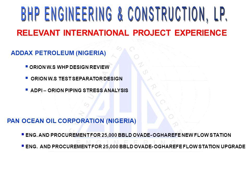 BHP ENGINEERING & CONSTRUCTION, LP (USA) - ppt video online