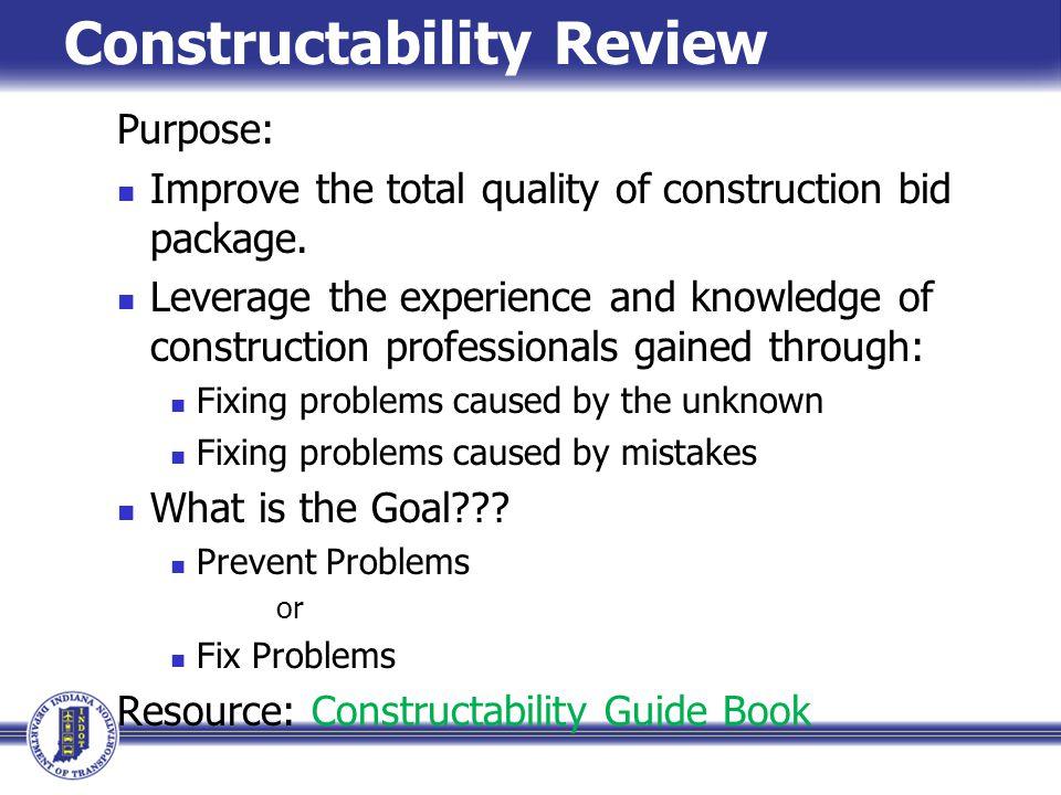 Critique constructability review process clark construction.