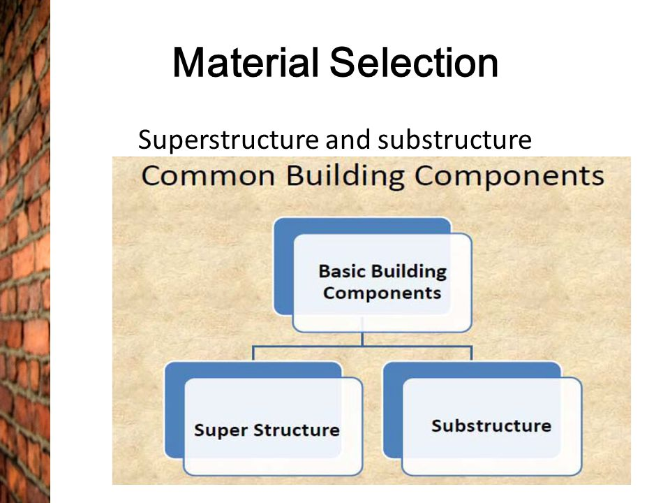 Construction Method, Material Selection & Building Services - ppt