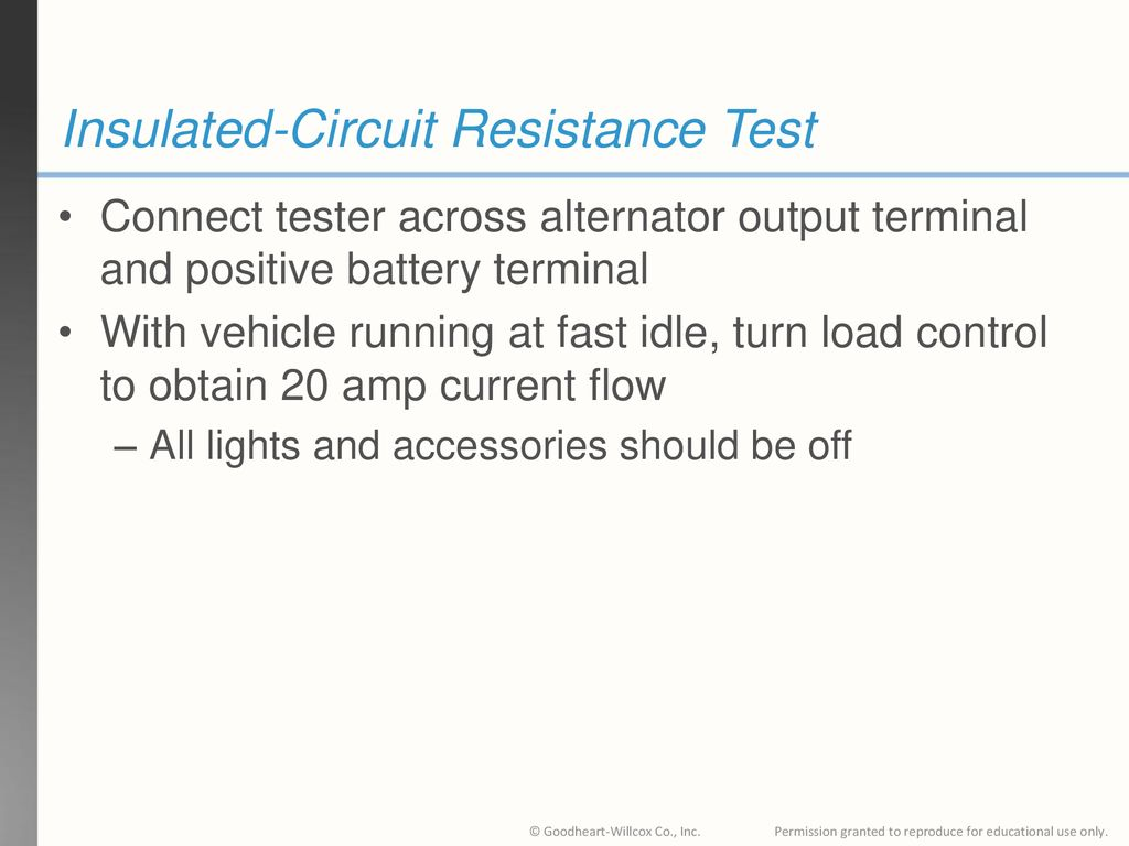 33 Chapter Charging System Diagnosis Testing And Repair Ppt Esting For Resistance In A Circuit Insulated Test