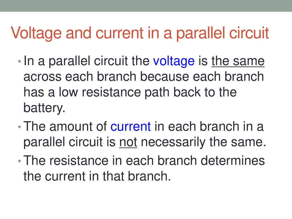 Series And Parallel Circuits Ppt Download Voltage In A Circuit Current