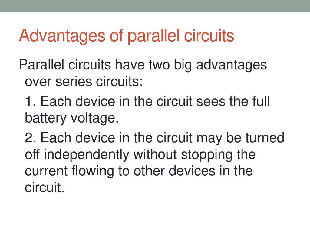 Advantage Of Series Circuit Over Parallel Best Electrical Examples Circuits And Ppt Download Rh Slideplayer Com Main A