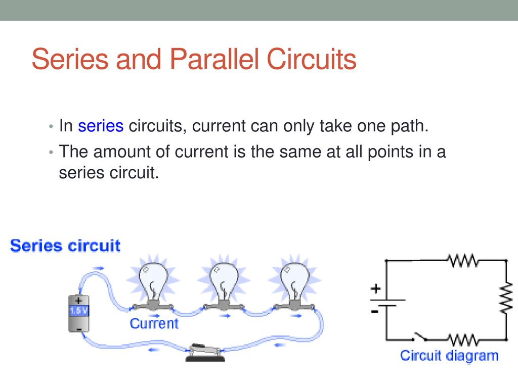 Series And Parallel Circuits Ppt Download Current In A Circuit