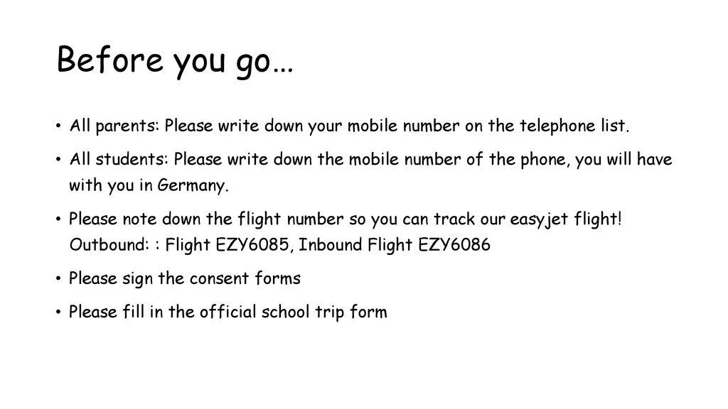 German Exchange 13 June – 20 June ppt download