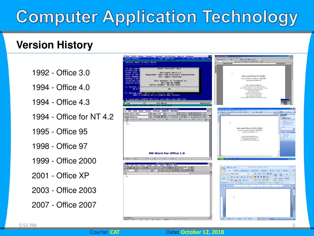 Computer Application Technology Introducing Microsoft Office ppt