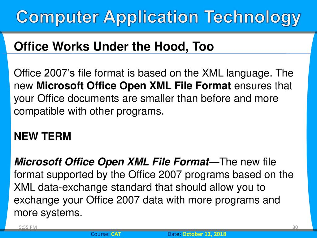 Computer Application Technology Introducing Microsoft Office