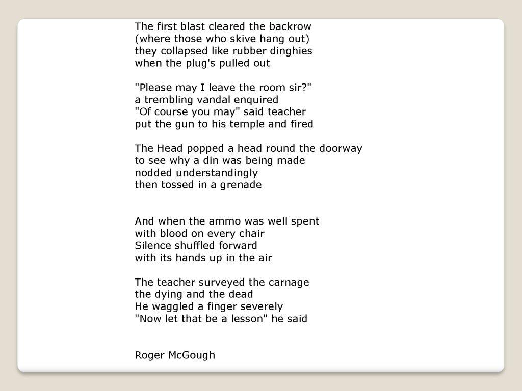 the lesson roger mcgough