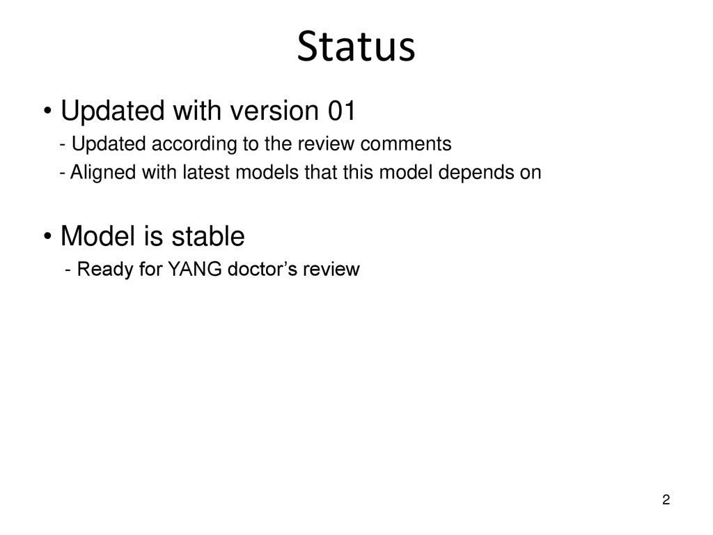 IGMP & MLD Snooping YANG Model - ppt download