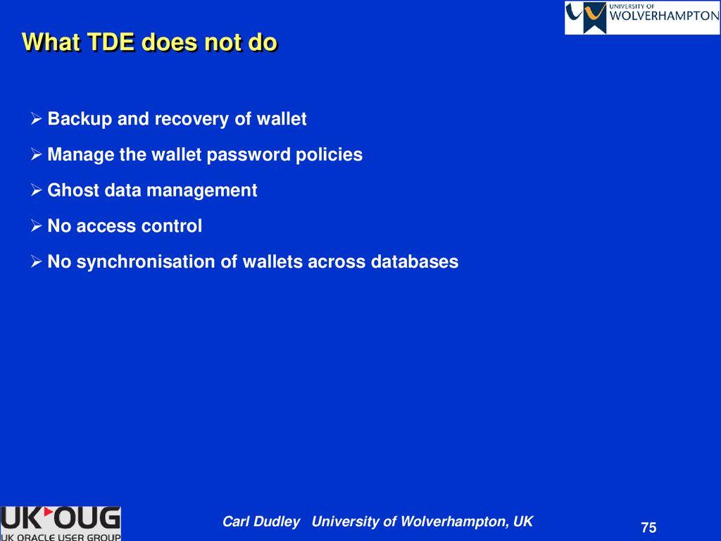 Oracle11g Transparent Data Encryption - ppt download