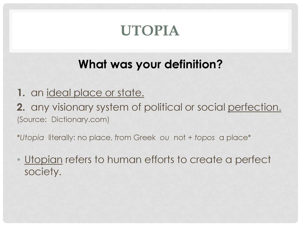 Utopia Dystopia  - ppt download