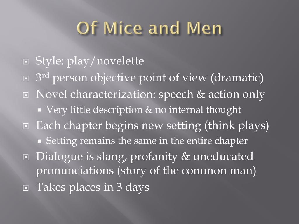 of mice and men point of view