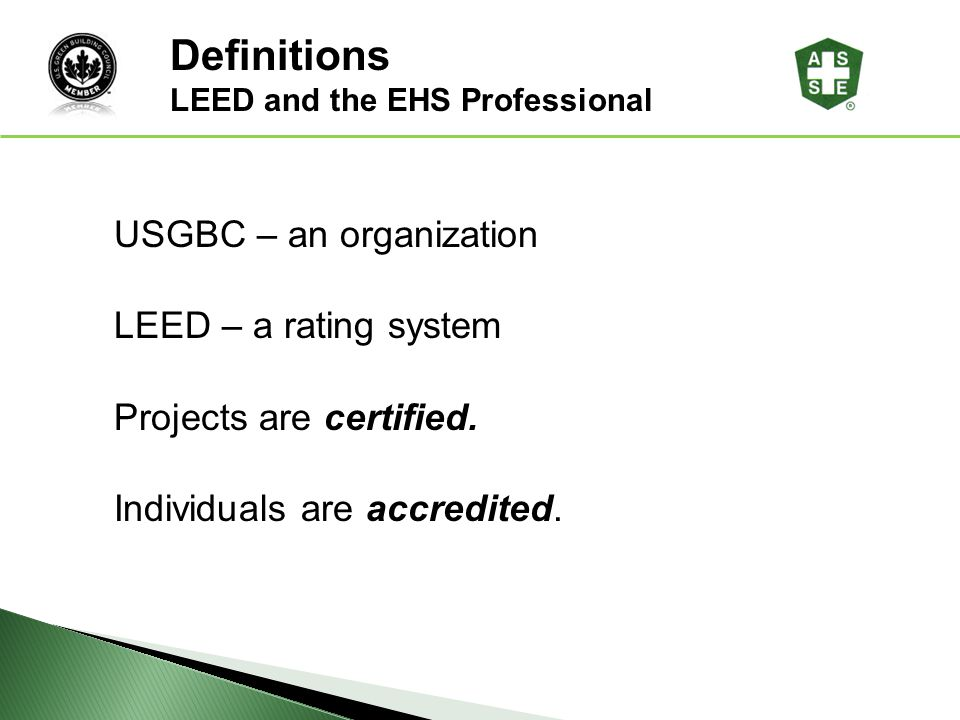LEED and the EHS Professional - ppt download