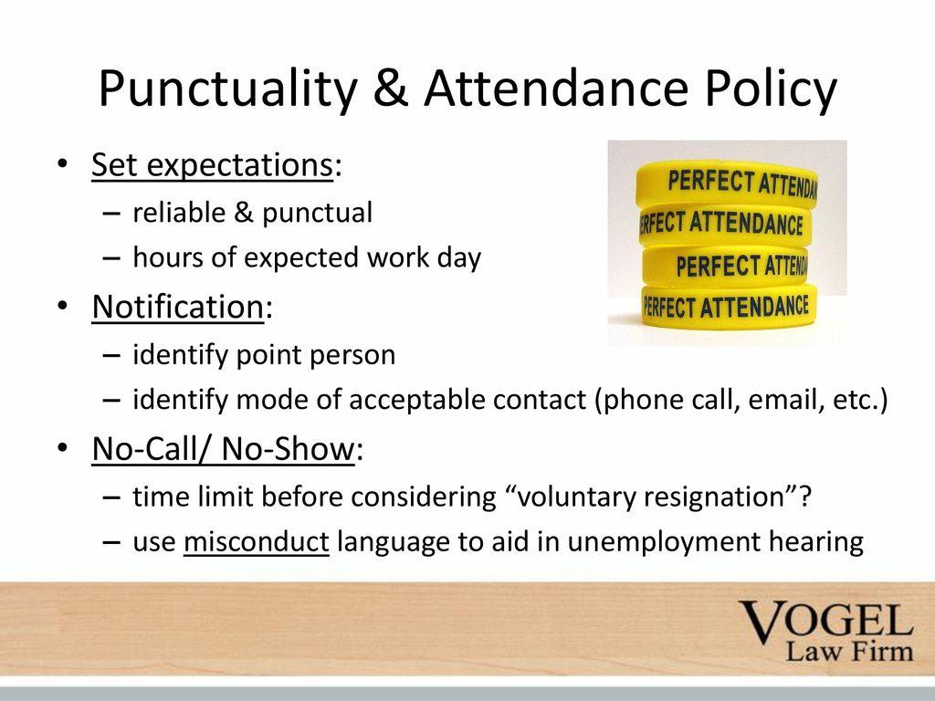 no call no show policy