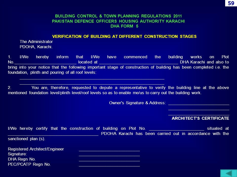 1 STEPS REQUIRED FOR CONSTRUCTION OF RESIDENTIAL OR COMMERCIAL