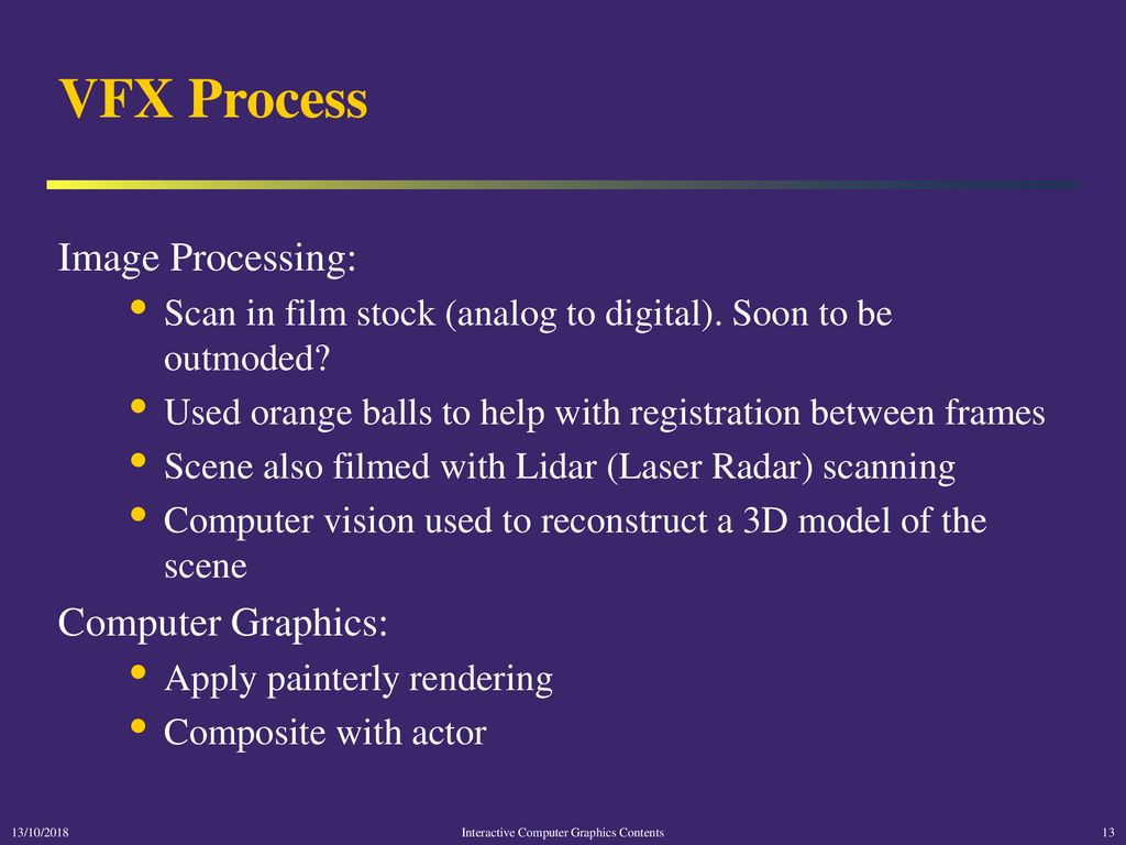Interactive Computer Graphics Visual Effects - ppt download