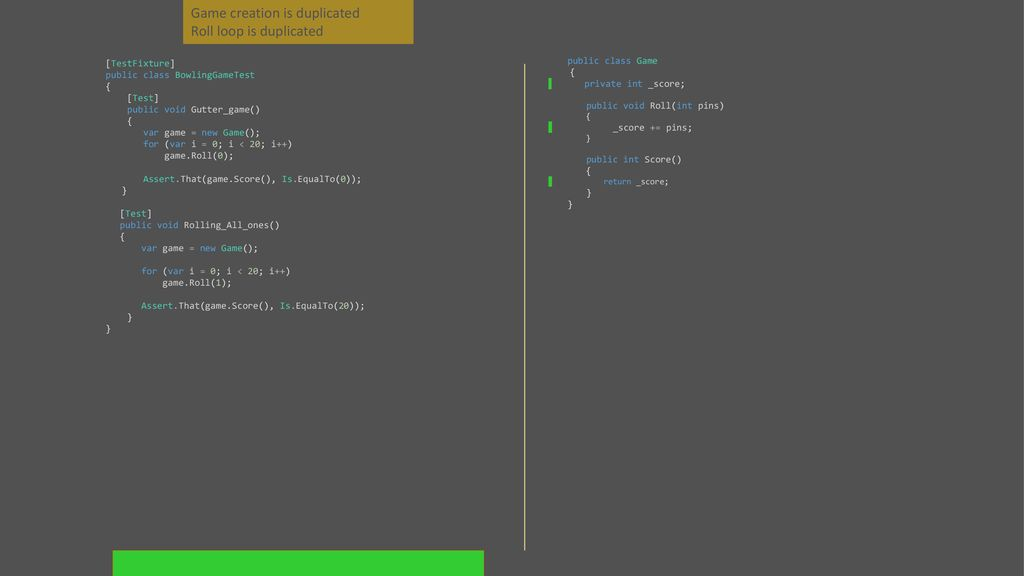 Bowling Game Kata In C# with NUnit  - ppt download