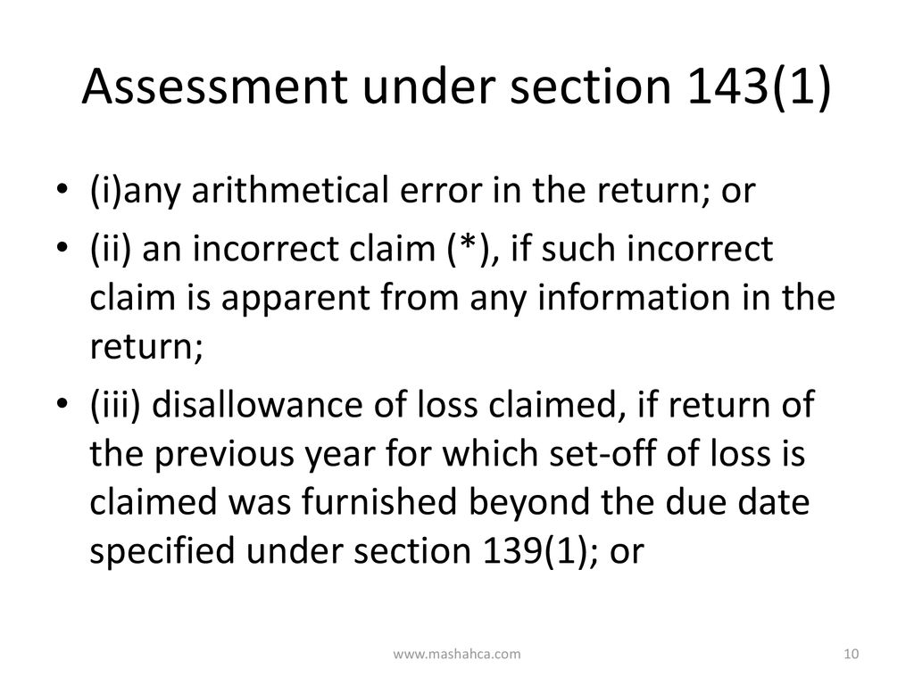 Insight to the Assessment of Income Tax - ppt download