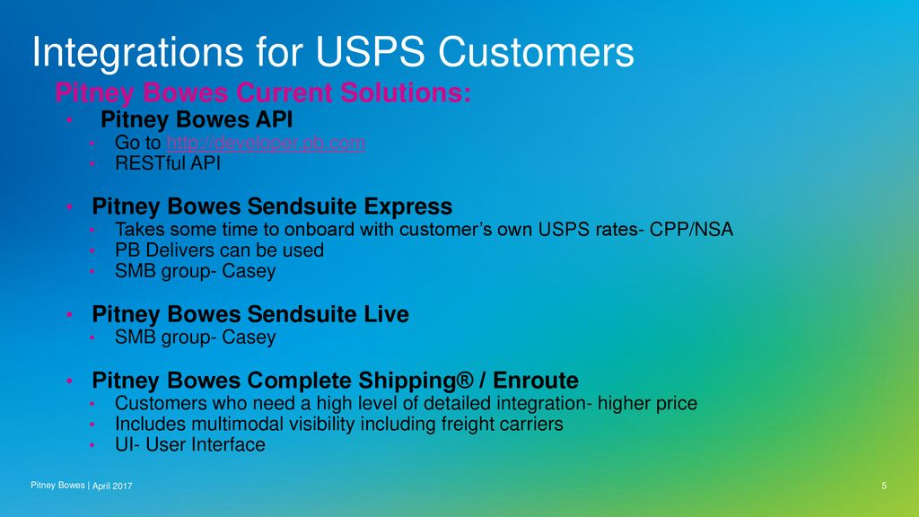 USPS Sales and Pitney Bowes - ppt download