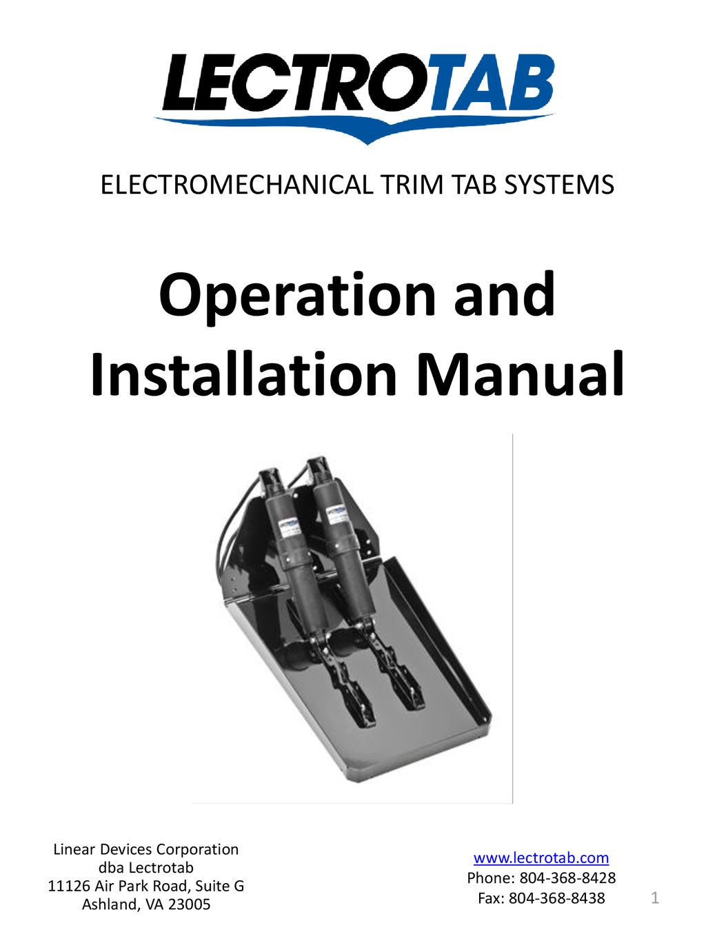Operation And Installation Manual Ppt Download Boat Trim Tabs Wiring Diagram