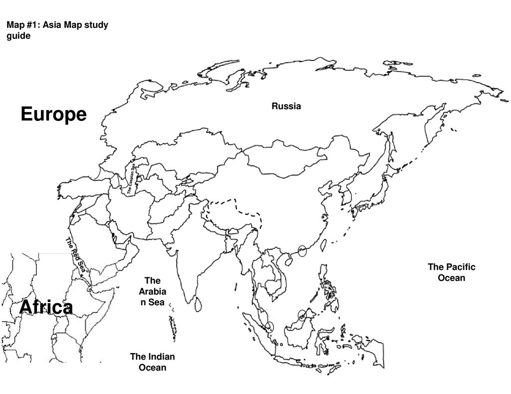 Europe Africa Map #1: Asia Map study guide Russia The Pacific