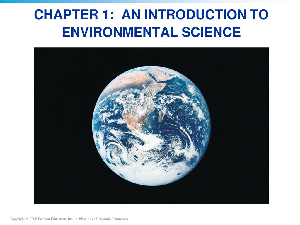 Introduction to environmental science powerpoint.