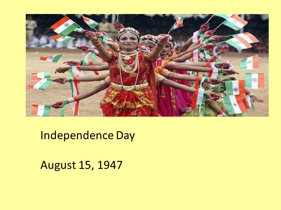 Independence Day August 15, 1947