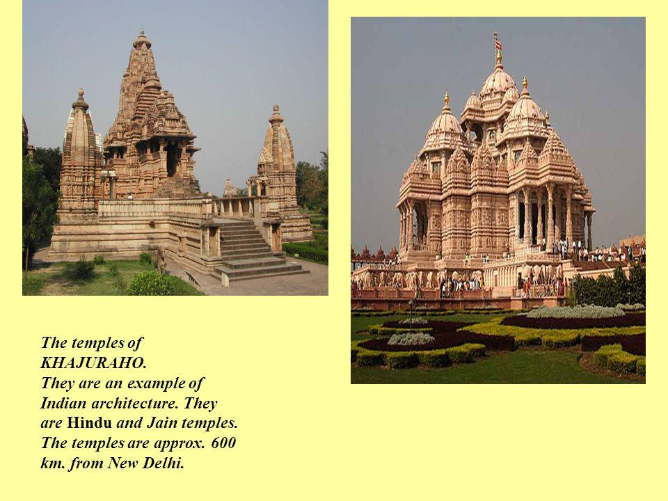The temples of KHAJURAHO.
