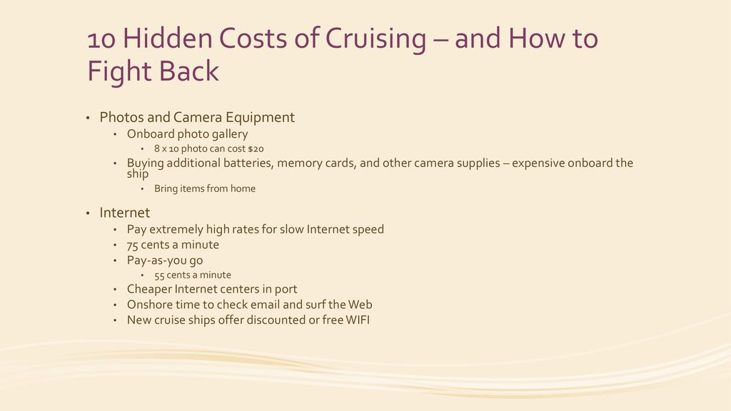 Cruising and Technology - ppt download