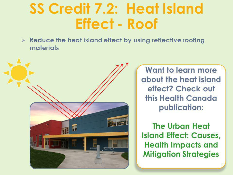 SS Credit 7.2: Heat Island Effect - Roof