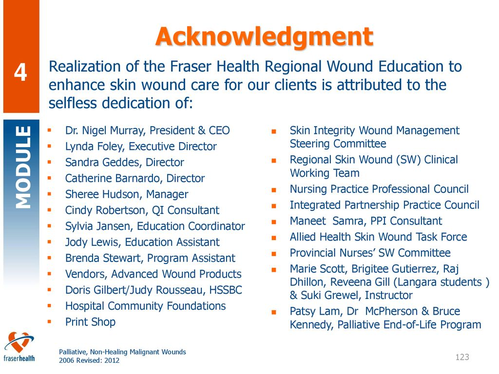 Palliative Non Healing Malignant Wounds Ppt Download