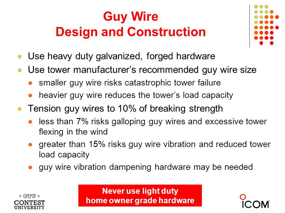 For storm survival long term reliability and safety ppt video guy wire design and construction keyboard keysfo Images