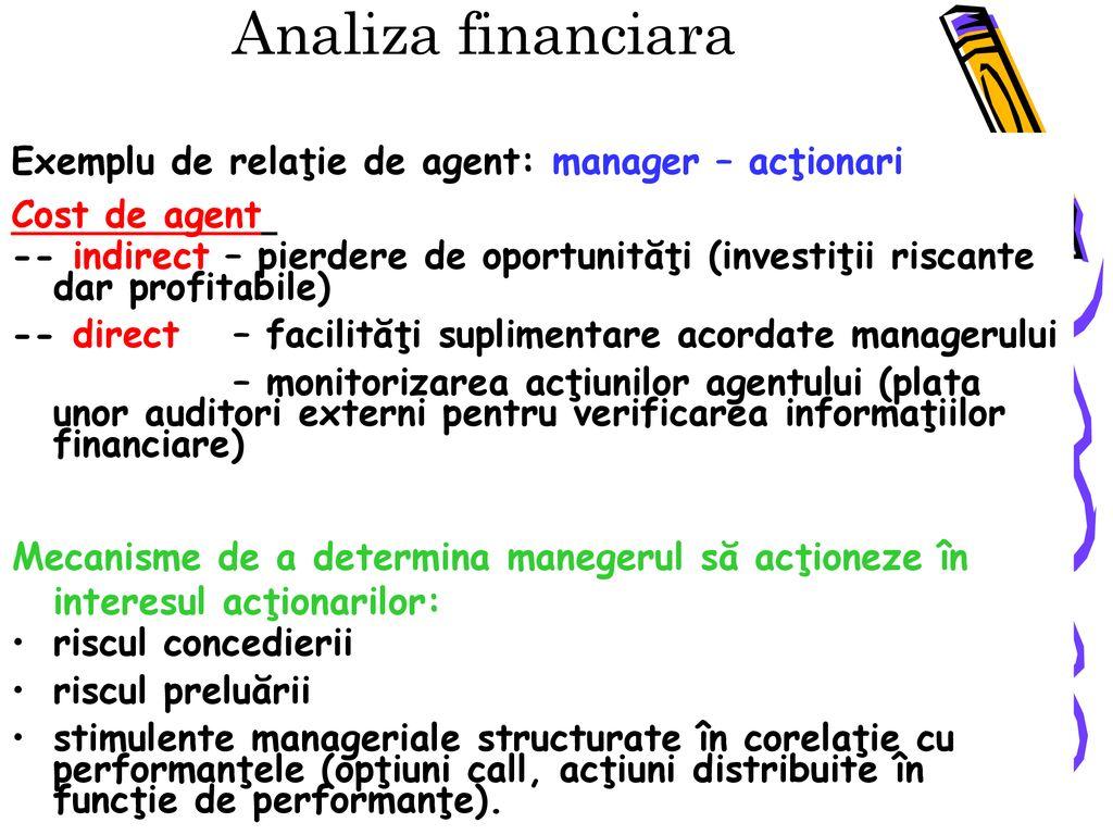 management financiar opțiuni)