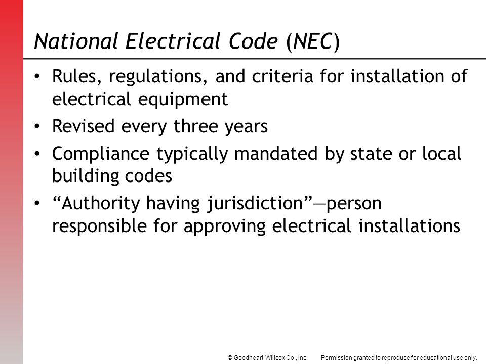 National Electric Code Residential Wiring on