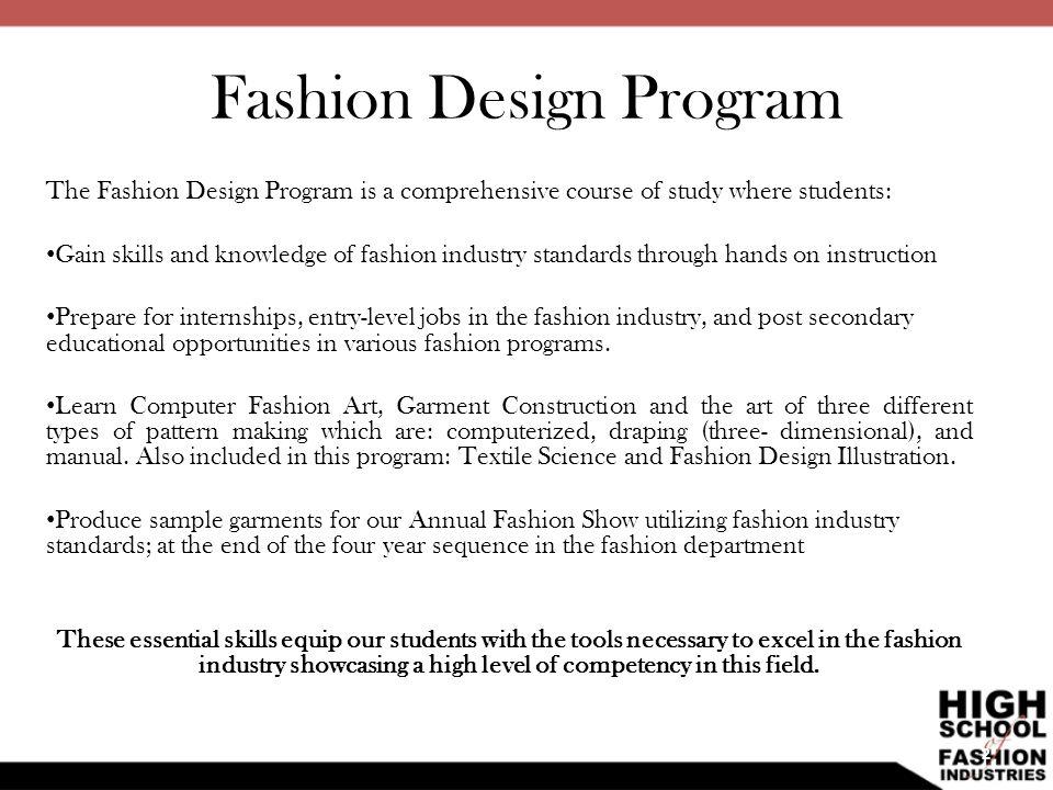 Fashion Design Program Ppt Video Online Download
