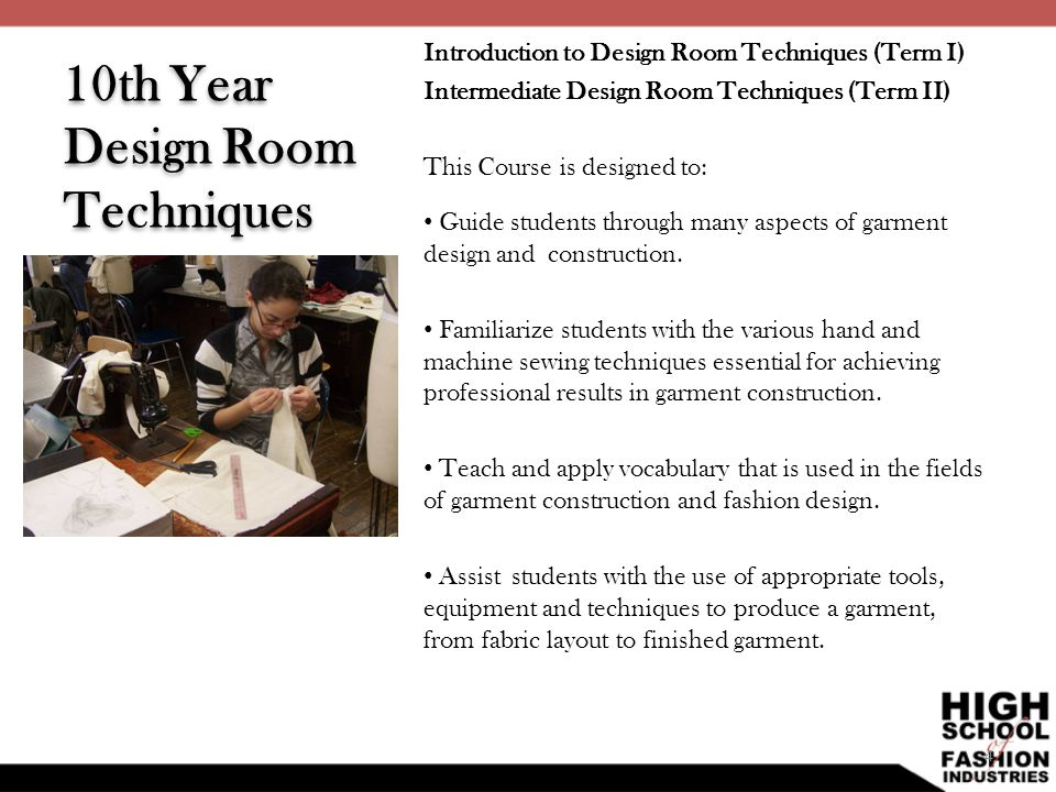 10th Year Design Room Techniques