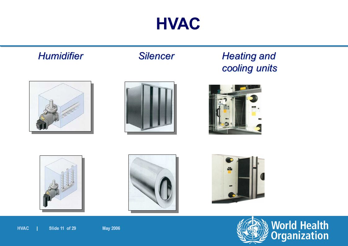 Humidifier Silencer Heating and cooling units