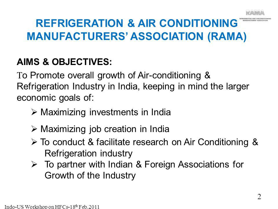 REFRIGERATION & AIR CONDITIONING MANUFACTURERS' ASSOCIATION (RAMA)