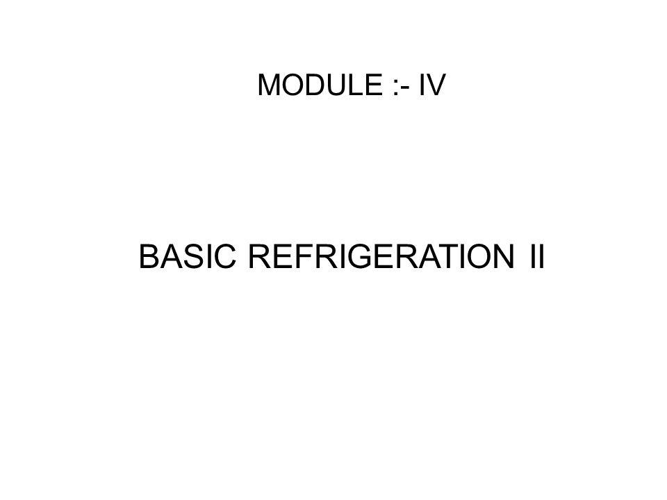 BASIC REFRIGERATION II