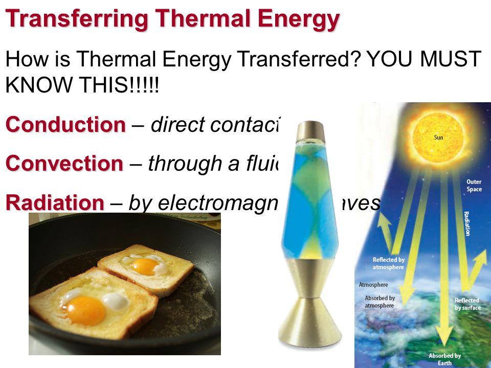 Transferring Thermal Energy